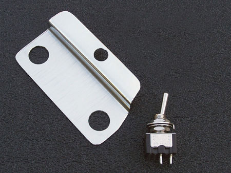 Gilmour Black Strat Recessed Mini-Toggle Switch Bracket and Switch Kit