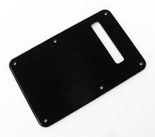 Left Hand Custom Manufactured Black 1 Ply 0.120'' Acrylic Back Plate Rounded Polished Edge