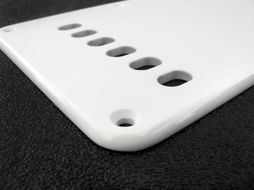 Vintage Style White 1 Ply 0.120'' Acrylic Back Plate With Rounded and Polished Edge Detail