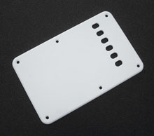 Custom Manufactured White 1 Ply 0.120'' Acrylic Back Plate Rounded Polished Edge