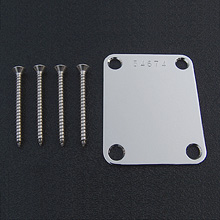 Serial Numbered Chrome Strat Neck Plate