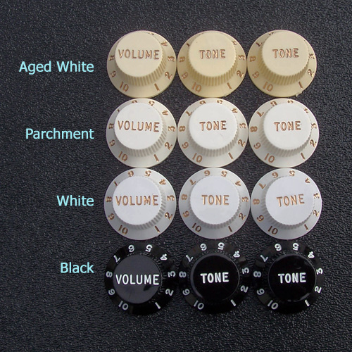 NEW Fender Stratocaster Strat GUITAR KNOBS Volume Tone Black 099-1365-000