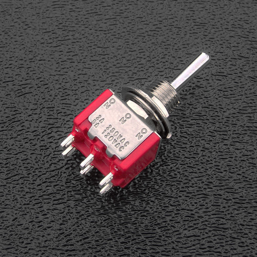 SW7211 DPDT On-On-On Mini-Toggle Switch