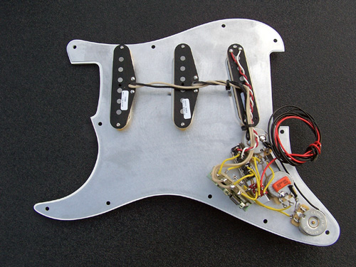 Triple Threat Complete Strat Pickguard Assembly, SSL-5T, SSL-1 Rw/Rp, SSL-1