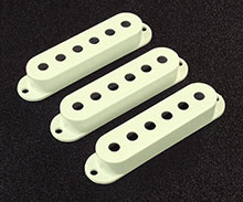 Vintage White Strat Pickup Cover Set